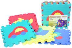 Wiky Penové puzzle Autá 32x32cm 10ks v sáčku