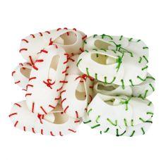 Akinu čeveljčki iz kože za žvečenje, 12,5cm, 10 kosov