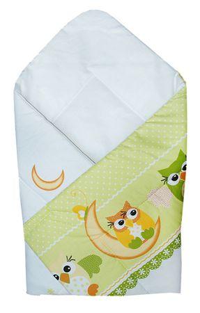COSING spalna vreča 72x72 cm - Sova, zelena
