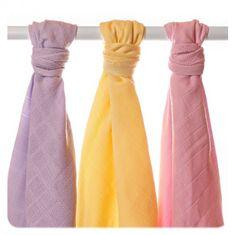 XKKO Ręczniki tetrowe z bawełny Organic XKKO 90x100cm (3 szt.), Pastels Dziewczynka
