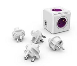 PowerCube razdelilec USB z nastavki (potovalni adapter)