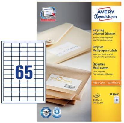 Avery Zweckform etikete LR3666, 38 x 21,2 mm, bijele