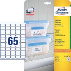 Avery Zweckform etikete L7971-25, 38,1 x 21,2 mm, za zamrzovalnike