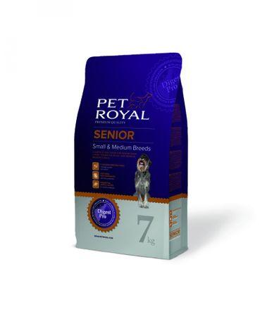 Pet Royal suha hrana za odrasle pse manjših in srednje velikih pasem Senior Small & Medium Breeds, piščanec, 7 kg