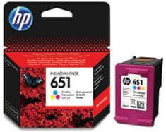 HP náplň 651, barevná (C2P11AE)