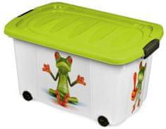Jelenia Plast Úložný box s kolieskami Žaba 45 l