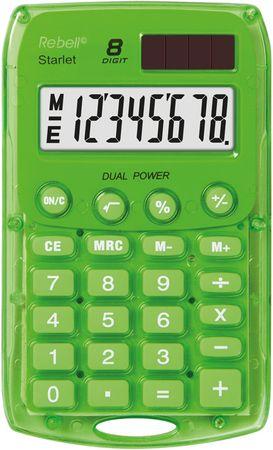 Rebell kalkulator Starlet BX, zelen