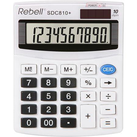 Rebell kalkulator SDC810+, belo-črn