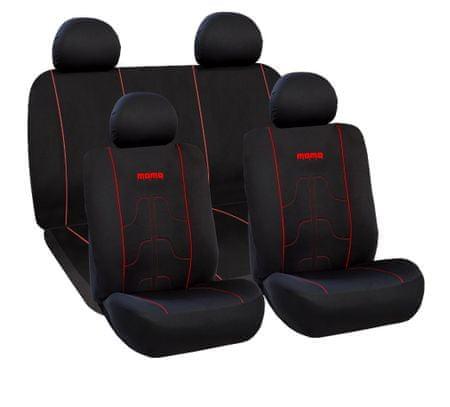 Momo International presvlake za sjedala, crno-crvena