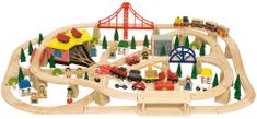 Bigjigs Rail Dopravná dvojúrovňová vláčikodráha 130 dielov