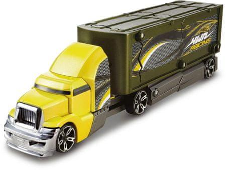 Hot Wheels Ciężarówka z kraksą, żółta