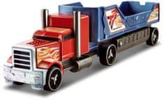 Hot Wheels Ciężarówka z kraksą, czerwona