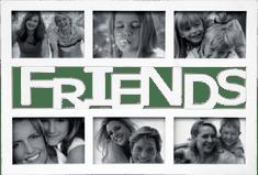 Postershop Friends 6 ablakos képkeret, Fehér, 10x15 cm