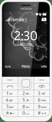 Nokia 230 Single SIM, bílá