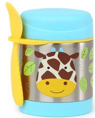 Skip hop Zoo Termoska na jedlo s vidličkou - Žirafa