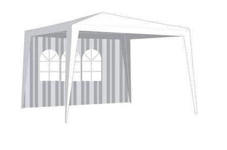 Happy Green ściana boczna do namiotu ogrodowego, z oknem - w paski