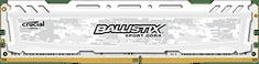 Crucial pomnilnik (RAM) DDR4 4GB 1.2V Ballistix Sport LT White