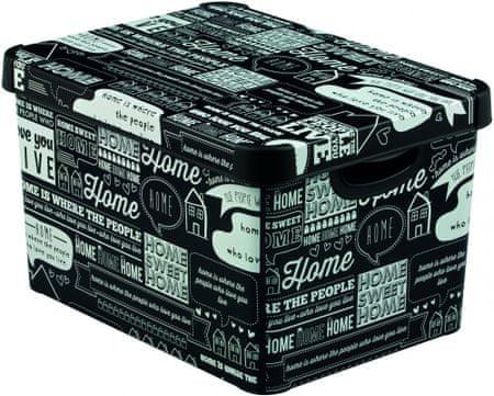 Curver škatla za shranjevanje Deco L, Typography