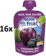 Nestlé Min Frukt Slivka s hruškou 16x90g