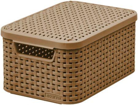 Curver škatla za shranjevanje Rattan Style S, rjava