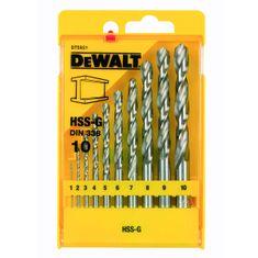 DeWalt 10-delni set svedrov za kovino 1-10 mm (DT5921)