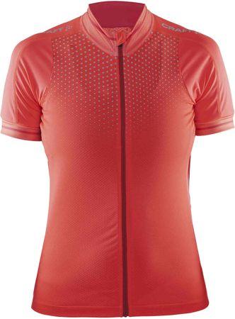 Craft kolesarska majica Glow, ženska, roza, S