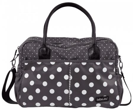 Bebe-jou previjalna torba Luxury Bag Grey Dots