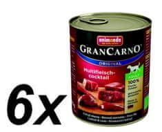 Animonda mokra karma dla psa Grancarno Adult mięsny multi koktajl 6 x 800g