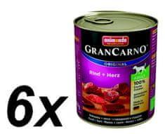 Animonda mokra hrana za odrasle pse Grancarno, govedina i srce, 6 x 800 g