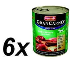 Animonda GranCarno Adult Kutyakonzerv, szarvas és alma, 6 x 800 g