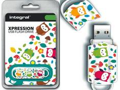 Integral USB stick Xpression 16 GB USB 2.0, Owls