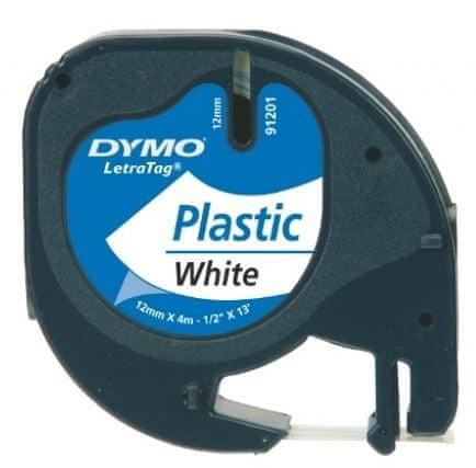 Dymo traka za printanje LetraTag, širina 12mm, bijela-plastificirana, 91201