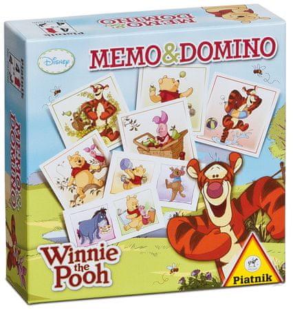 Piatnik spomin in domino Medvedek Pu