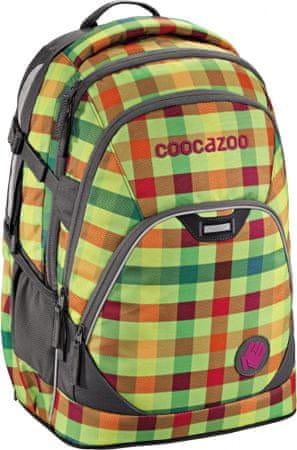 CoocaZoo EvverClevver2 Iskolatáska, Zöld kockás
