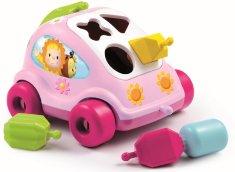 Cotoons Cotoons autíčko vkladačka, ružové