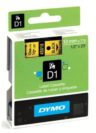 Dymo traka D1 12mm/7m, žuta (450180)