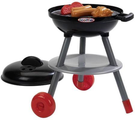 Ecoiffier 668 Grilovací set s grilem a s potravinami černý