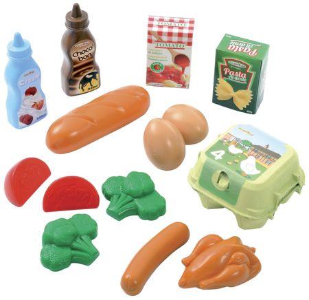 ECOIFFIER Műanyag játék élelmiszerek hálóban