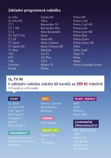 O2 tv registrace