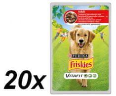 Friskies mokra hrana za odrasle pse VitaFit, govedina i krumpir u umaku, 20 x 100 g