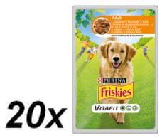 Friskies mokra hrana za odrasle pse VitaFit, piletina i mrkva u umaku, 20 x 100 g