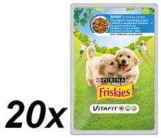 Friskies mokra hrana za mlade pse Vitafit, piletina i mrkva u umaku, 20 x 100 g