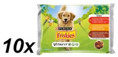 Friskies mokra hrana za odrasle pse VitaFit, govedina,piletina,janjetina s povrćem u umaku 10x(4x100g)