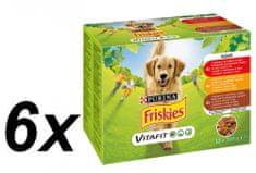 """Friskies """"VitaFit ADULT"""" z wołowiną, kurczakiem i jagnięciną, 6x (12x 100 g)"""