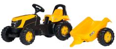 Rolly Toys Šliapací traktor Rolly Kid JCB s vlečkou žltý
