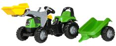 Rolly Toys Šliapací traktor Rolly Deutz s prívesom a nakladačom