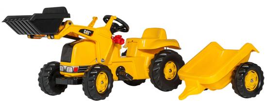 Rolly Toys Nakladač Caterpillar s vlečkou - žltý