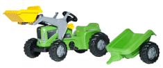 Rolly Toys Šliapací traktor Kid Futura s vlečkou a predným nakladačom