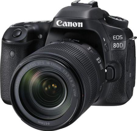 CANON EOS 80D + 18-135 IS USM Digitális Fényképezőgép