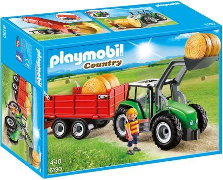 Playmobil velik traktor s priklopnikom 6130